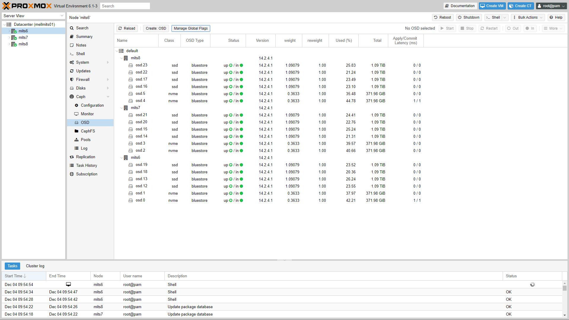 Proxmox VE 6.1 Ceph OSD